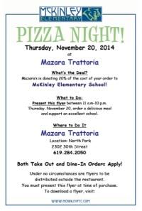 McK Pizza Night flyer 11-2014 Mazara's