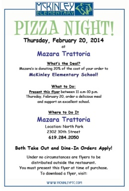 McK Pizza Night flyer 2-2014 Mazara's