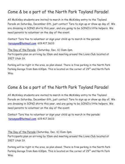 Toyland Parade