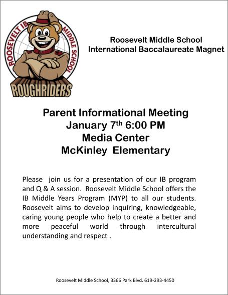 Roosevelt Parents Night McKinley Flyer.pptx