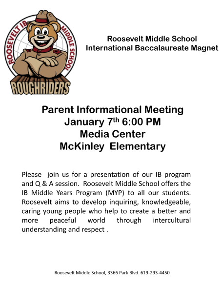 Roosevelt Parents Night McKinley Flyer.pptx