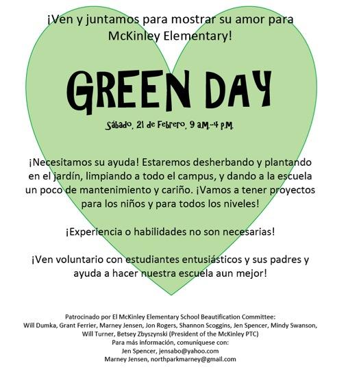 McKinley Green Day 2015.02.21-Spanish