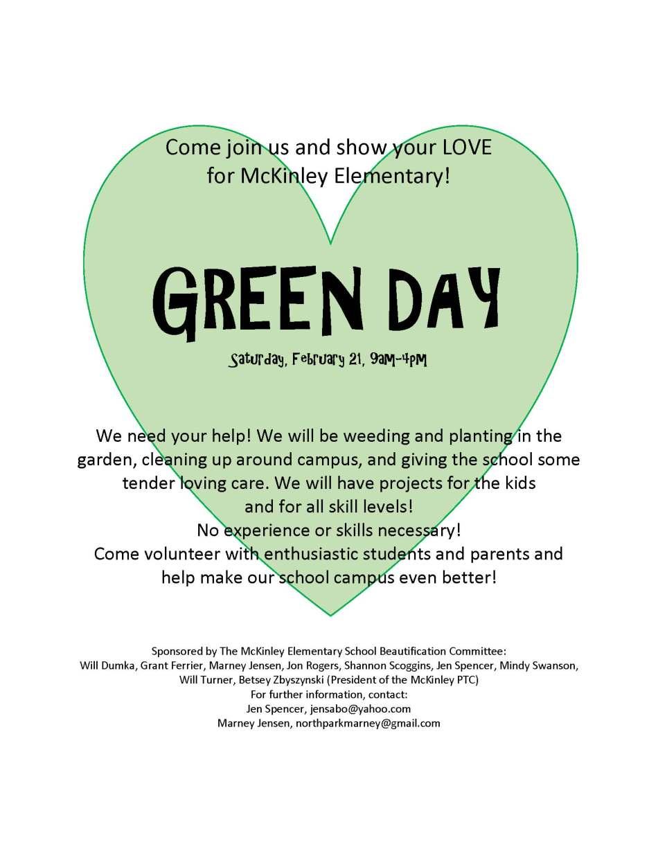 McKinley Green Day 2015-English