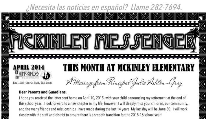 April McKinley Messenger