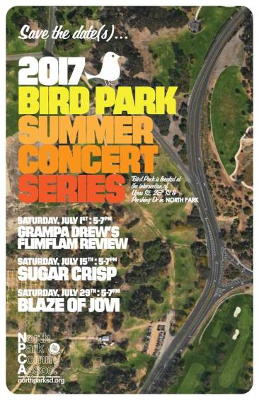 2017 Bird Park Summer Concert Series