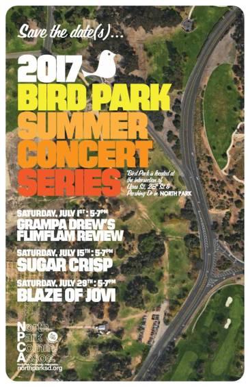 2017 Bird Park Summer Concert Series